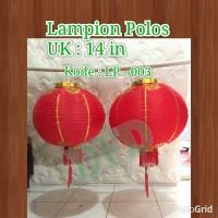 Jual Lampion Imlek / Lampion Polos Isi : 2 ( Ukuran 14 In) Murah