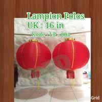 Jual Lampion Imlek / Lampion Polos Isi 2 ( Ukuran 16 In) Murah