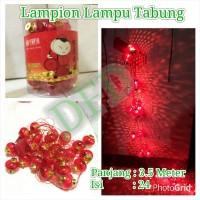Jual Lampion Imlek / Lampion Lampu Tabung ( Isi : 24 Pc ) Uk : 6cm Murah