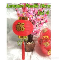 Jual Lampion Imlek / Lampion Plastik 16 Cm ( Isi : 4 Pc ) Murah