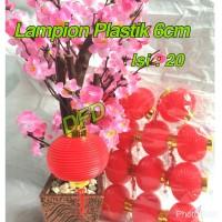 Jual Lampion Imlek / Lampion Plastik 6 Cm ( Isi : 20 Pc ) Murah
