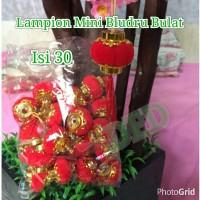 Jual Lampion Imlek / Lampion Bludru Mini Bulat ( Isi : 30 Pc ) Murah