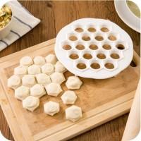 Jual 19 Holes Dumpling Mold / Cetakan Pangsit Gyoza Dough Pastel Jiaozi Pas Murah