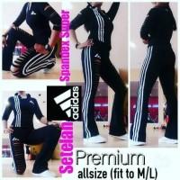 Jual PROMO Baju Olahraga Wanita Setelan Adidas Spandex Super BEST SELLER T Murah
