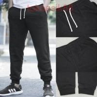 Celana HnM Jogger Joggerpants Black Basic Sweatpants H&M Original