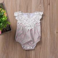 Jual Newborn Lace Flower Jumper  Sleeveles Romper Jumpsuit / Bayi Perempuan Murah