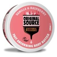 ORIGINAL SOURCE Body Butter Vanilla Raspberry 200 ml