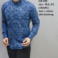 Kemeja  Pria / Baju  Batik  Slimfit / Baju Pesta / Baju Keluarga LB238