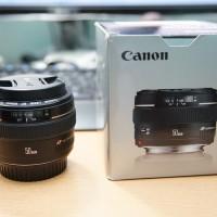 Jual LENSA CANON 50mm f1.4 MULUS LENGKAP BOX Murah