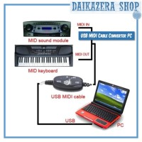 USB MIDI Cable Converter PC to Music Keyboard Adapter Cable - AY03