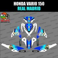 TERBARU Sticker striping motor stiker Honda Vario 150 ESP Real Madrid