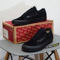 Sepatu Vans Old Skool Classic Full Black Hitam DT Premium oldskool