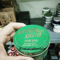 Dax Pomade Green & Gold Extra Hold Oilbased 3.5oz Free sisir
