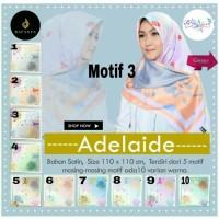 Jual Jilbab Segiempat Adelaide Satin Motif 3 By Dafanya Hijab Square Scarf Murah