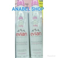Evian Baby Natural Mineral Water Brumisateur Face & Body Spray 300 ml
