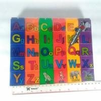 Jual Mainan puzzle block alfabet edukasi Murah