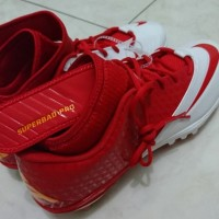 NIKE Lunarlon Superbad Pro TD Football Cleat Red White
