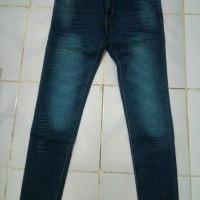 Celana Jeans Get It Wanita Pensil (Dengan motif garis sobek)