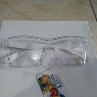 Kacamata Anak Anak Kacamata Fashion Kaca Bening Putih Trendy Gaya Hit