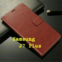 Flip Cover Samsung Galaxy J7 Plus J7Plus J7+ 2017 Wallet Leather Case