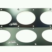 Universal Rear Bumper Air Diversion Diffuser Panel Black