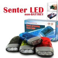 Hand Flash Light/ Lampu Senter Pompa tanpa baterai/ Emergency Lamp