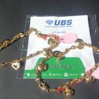gelang tangan mas kuning model rantai perhiasan emas 375 UBS gold