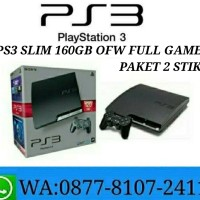 PS3 Slim 160GB OFW Full Game Refurbished By Sony