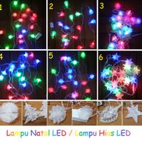 Jual Lampu Natal / Lampu Hias LED Motif Pohon, Bunga, Bintang, Hati, Bulat Murah