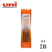 Uni Nano Dia Pencil Lead 0.5 mm 2B / Isi Pensil Mekanik 2B - 0.5 mm