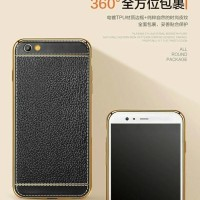 CASING HP Tpu Leather Metal Bumper Case For Vivo V5 Plus