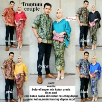 Jual Batik Couple Sarimbit Blouse Batwing Rok lilit Truntum Murah