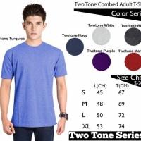 Jual Kaos Polos Two-Tone Oblong Lengan Pendek Soft Combed 30s Murah