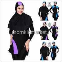 Jual Baju Renang Muslimah Premium Ukuran M, L dan XL Dewasa ES-FCM-004-B Murah