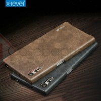 Sony Xperia XZs - X-Level Vintage Leather Bumper casing armor cover