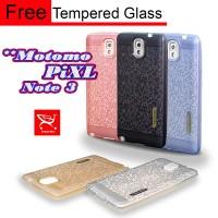 Jual New Softcase MOTOMO PiXL SAMSUNG NOTE 3 [ Free TEMPERED GLASS ] Murah