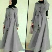 Jual baju muslim wanita long coat dress muslim cewe hijab abudhabi lotto Murah