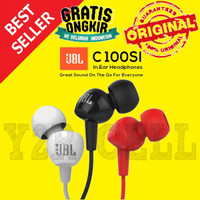 JBL C100SI In-Ear Headphones with Mic Earphone Headset Headphone