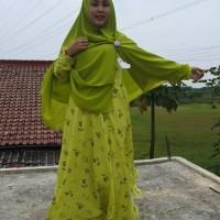 Baju Gamis Syari Wolfis Cantik Dress Muslimah Gamis Murah