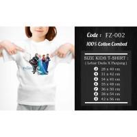 [TagAll Tokopedia] Kaos Anak / Baju Anak Frozen - 13 Motif/Design