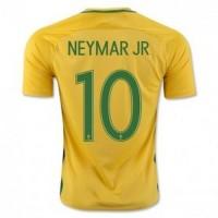 Jersey Sepakbola CBF Brazil No 10 Neymar Jr Size M Yellow