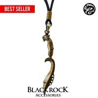 Kalung Tali Liontin KUJANG 3D GOLD Pria Wanita - Blackrock