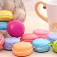 Jual PROMO Squishy PU kue macaron Mini RANDOM warna WANGI MACARON LEZAT Murah