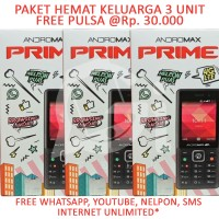 Smartfren Andromax Prime 4G LTE Free Whatsapp Call SMS - Paket 3 Unit