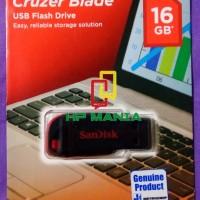 SANDISK FLASHDISK CRUZER BLADE 16GB CZ50 ORIGINAL ASLI / USB 16 GB