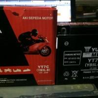 Aki motor Yuasa YT7C (YB5L-B) kering untuk supra, jupiter z, smash