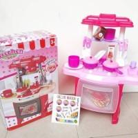 Jual Mainan edukasi anak masak kitchen set meja pink besar - T Murah