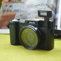 AMKOV Camera Digital Max 24MP LCD Camcorder Kamera Mirrorless