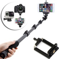 Tongsis Kabel Monopod Built in AUX Cable and KEY Shot-Yunteng YT-1188