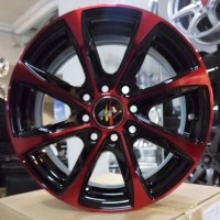 RHR14 X 5.5 H8PCD 100/114.3ET35BLACK MACHINED FACE + RED COATING